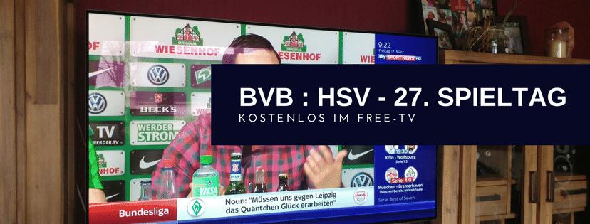 BVB gegen HSV im Free-TV
