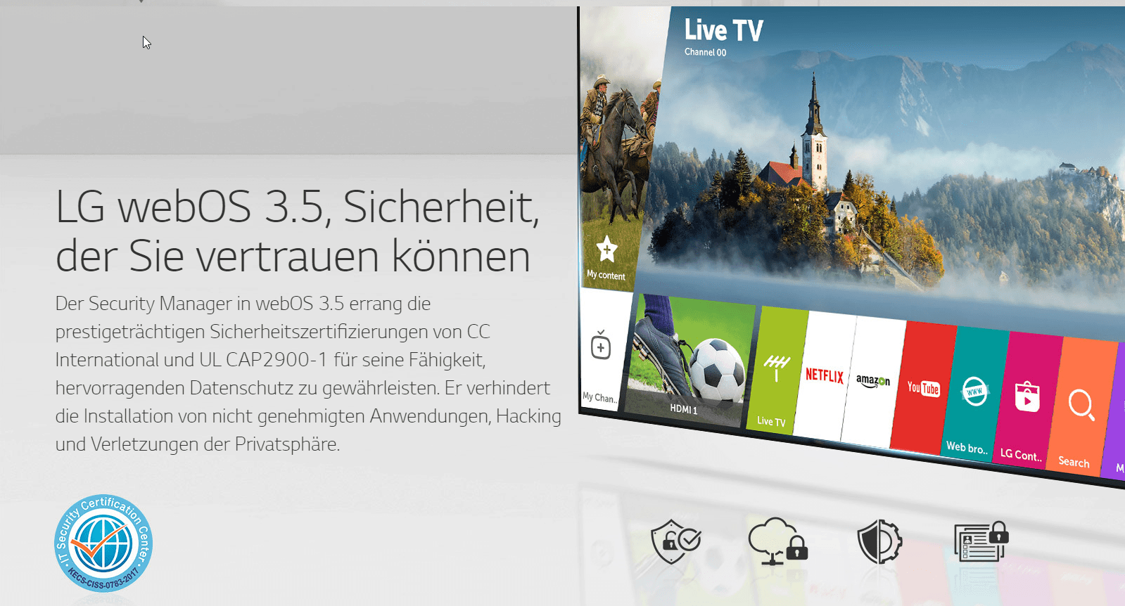 LG webOS 3-5-Sicherheit