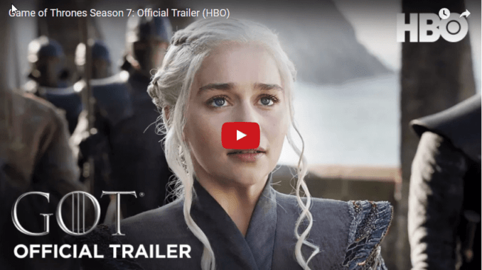 Game of Thrones 7 Staffel Trailer