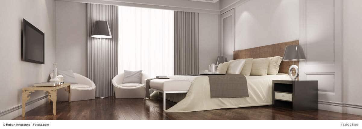 Ein hochwertiges Hotelzimmer mit Fernseher - so kann ein Hotel TV aussehen