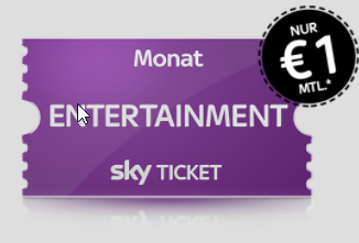 Sky Ticket Entertainment Juli angebot