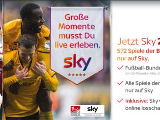 sky Fußball Bundesliga Abo 2 Monate gratis