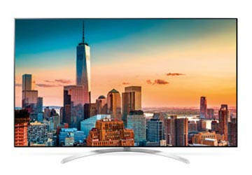 LG Super UHD Fernseher SJ8509 von vorne