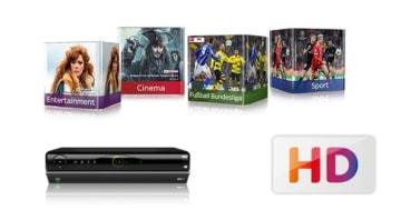 Sky komplett Angebot mit HD+ Receiver