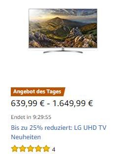 LG Tagesangebot Amazon