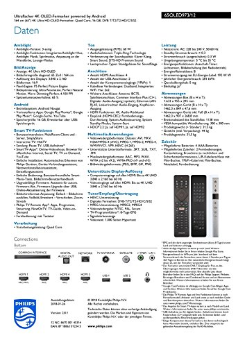 Philips 65OLED973/12 164cm (65 Zoll) OLED Fernseher - 3