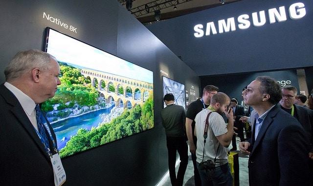Samsung 8k fernseher prototyp