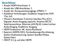 Philips Datenblatt