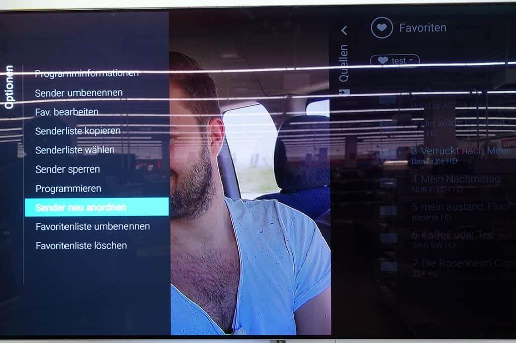 Philips Sender Sortieren - Android TV 2019 - Schritt 11