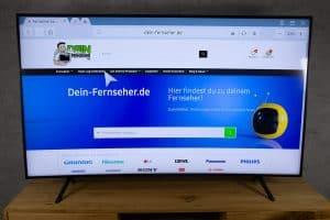 Samsung RU7379 - Smart TV Oberfläche - Webbrowser seite geöffnet